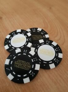 STAR WARS GOLF POKER CHIP GOLF BALL MARKER ... IN 2 COLOURS AND 2 LOGOS