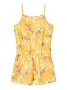 NAME IT Jumpsuit Overall NKFVigga gelb weiß Blumen Größe 128 bis 164