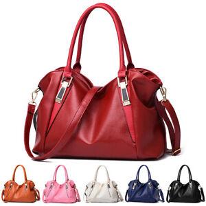 Women Soft Leather Shoulder Handbag Crossbody Bag Hobo Tote Messenger Satchel