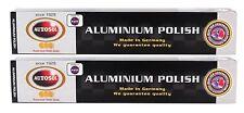 2x AUTOSOL Aluminium Polish Aluminiumpolitur Politur Alu Reiniger Paste 75 ml