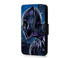 Black Panther Marvel Superhero Movie Faux Leather Phone Flip Case Cover Wallet