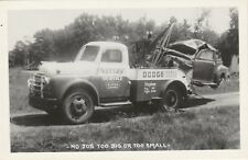 c.950 RPPC: No Job Too Big or Too Small @ Waters Dodge Sales & Service, Siren WI