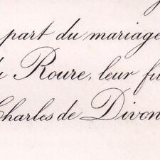 Anna du roure de Beaujeu barbegal & charles de Divonne 1878