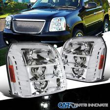 07-14 GMC Yukon Denali XL Clear LED Projector Headlights+Amber Corner Lamps Pair