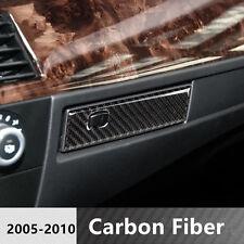 Carbon Fiber Console Co-pilot Water Cup Holder Panel Trim For BMW 5 series E60