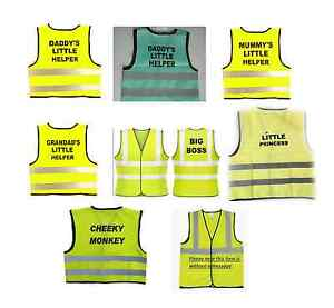Christmas Stock Filler HiVis Safety Yellow Vest Jacket Daddy Little Helper Gift