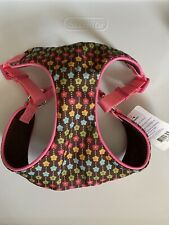 Top Paw Pink and Brown Floral Comfort Harness- M, S, XS