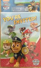Paw Patrol Party Invitations, Envelopes, And Thank You Cards Pack of 8