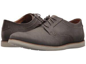 Men's Shoes Clarks RAHARTO PLAIN Comfort Leather Oxfords 33688 GREY NUBUCK