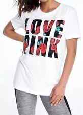 Victoria's Secret PINK Floral Campus Tee ~ Size Large