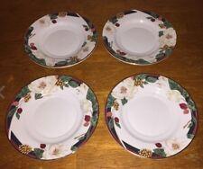 "4 Tienshan Magnolia Fine China 6"" Saucer Plate (F)"