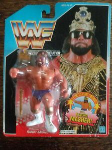 1990 HASBRO TITAN SPORTS WWF MACHO KING RANDY SAVAGE WRESTLING FIGURE NOC