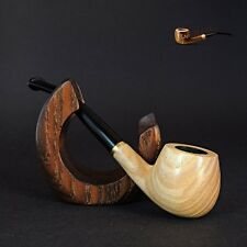 "Mr.Brog HAND MADE WOODEN  SMALL SMOKING PIPE no. 29 "" Caro ""  White"