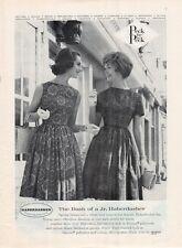 1962 Peck and Peck Jr. Haberdasher Fashion Paisley Hand Screened  Dress PRINT AD