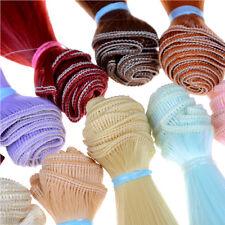 Länge Hochtemperaturmaterial natürliche Farbe dick bjd Perücken Puppe Haar ZP