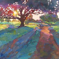 KMSchmidt 24x24 Ltd Ed CANVAS PRINT fauve impressionist OAK TREE art LANDSCAPE