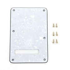 White Pearloid Guitar Back Plate Tremolo Cover For Fender Strat replacement