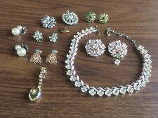 Costume Jewelry Lot Lisner As Is For Fix Repair Replace Screw Back Clip On