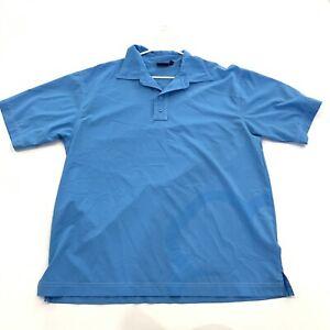 Mens Black Clover Live Lucky Blue Golf Shirt Size XL 100% Polyester