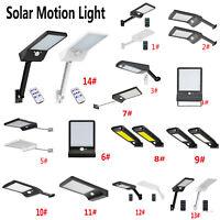 36-100LED Solar PIR Motion Sensor Wall Light Outdoor Garden Street Path Lamp UK