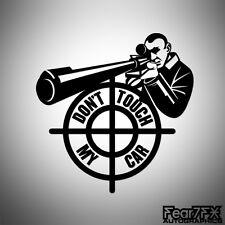No toque mi coche mafia francotirador Coche Furgoneta Ventana Calcomanía Adhesivo Carro Jdm Euro Divertido