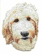 "2"" x 2 1/2"" Golden doodle Dog Breed Portrait Embroidered Patch"