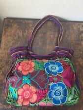 Handmade Floral Embroidered Mexican Tote Bag Purses & Handbags Bolsa Bordada