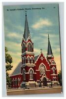 Vintage 1930's Postcard St. Joseph's Catholic Church Petersburg Virginia