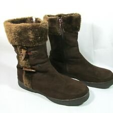 Jelly Beans Suede Fur Boots  Side Zipper Size 12