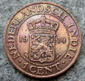 NETHERLANDS EAST INDIES - INDONESIA WILHELMINA 1914 1 CENT COLONIAL