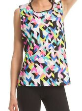 NWT Trina Turk Recreation Kaleidoscope Muscle Workout Top Tee SMALL TR50350