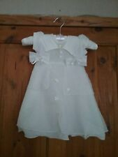 Nursery Time Baby girls Ivory Wite special Occasion Dress Age 6/12 Months Excell