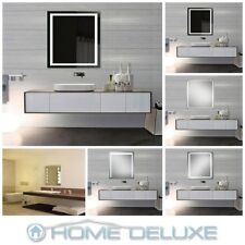 HOME DELUXE LED Spiegel Badspiegel Wandspiegel Badezimmer Beleuchtet Touch