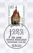 BRD 1984: Rathaus Michelstadt Nr. 1200 mit Bonner Ersttagssonderstempel! 1A 155