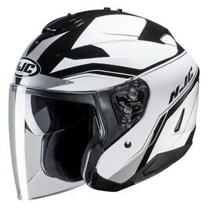 Casco Helm Casque Helmet HJC IS-33 II 2 JET KORBA MC10 taglia L BIANCO 2019