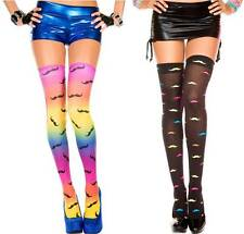 Spandex Ironic Mustache Pattern Pantyhose Hipster Indie Thigh-High Stocking Sock