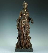 Wunderschöne Bronze Figur Eutrope Bouret 1860 Aphrodite Venus Statue Sculpture