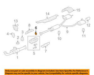 18393SDBA00 Acura OEM Exhaust Catalytic Converter Gasket