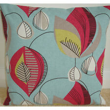 """18"""" Cushion Cover Funky 1950s Vintage Retro Style Pink Yellow Blue 50's NEW"""