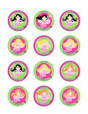 FAIRY PARTY Edible Cupcake Toppers Frosting Sheet Cookie Pink Personalized!