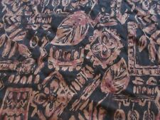 Fashion Bug Relaxed Fit size 5X brown orange floral Tshirt T-shirt w/silver ring