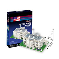 World's Great Architecture The White House 64 Piece 3D Model DIY Hobby Build Kit