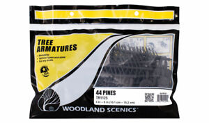 NEW Woodland Scenics TR1125 Pine Tree Armatures 4-6 in. 44 Count