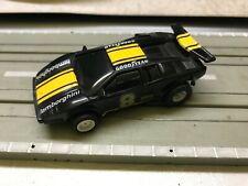 Faller AMS Aurora AFX Tyco Lamborghini Nr. 8 schwarz gelb guter Zustand