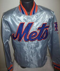NEW YORK METS MLB STARTER Snap Down Jacket Sping/Summer Ed SILVER SERIES XL 2X