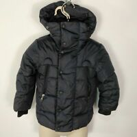 GIRLS MONCLER NAVY BLUE HOODED DOWN FEATHER COAT JACKET KIDS AGE 3 YRS 100CM