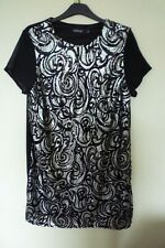 Black and silver sequin dress boohoo size 16 ideal for Christmas party