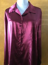 Chico's Woman's Beautiful Dark Red Long Sleeve Blouse Size 3. 16/18