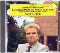 DG FULL SILVER Beethoven GILELS Sonatas 5 10 19 20 (1986, W. GERMANY) 419 172-2