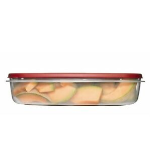 Rubbermaid 1777163 24 Cup Rectangle Easy Find Lid Food Storage Container